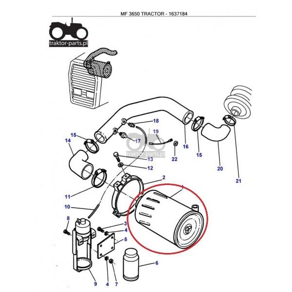 3020-FPO71 Filtr powietrza zewMassey Ferguson Filtry