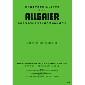 Allgaier Traktor A12 A 12 A16 A 16 Ersatzteilliste