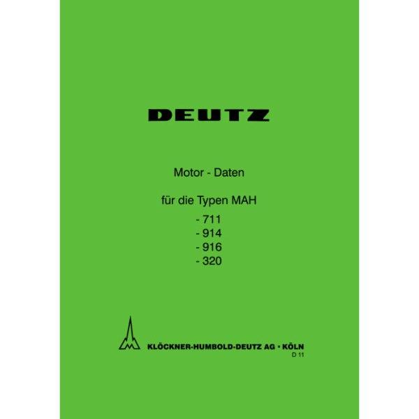 Deutz Motor Daten MAH 711-914-916-320