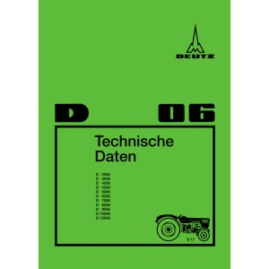 Deutz Technische Daten D2506, D3006, D4006, D4506, D5006, D7006, D 8006, D9006, D10006, D13006
