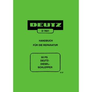 Deutz Traktoren Handbuch Reparatur 50PS Diesel Schlepper