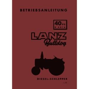 Betriebsanleitung-Lanz-Bulldog D-4016 40-PS