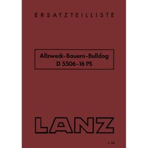 Lanz-Bulldog Ersatzteilliste Allzweck-Bauern D-5506 16-PS