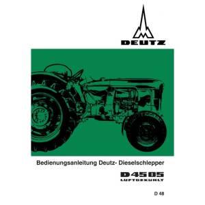 Deutz Bedienungsanleitung Betriebsanleitung D4505