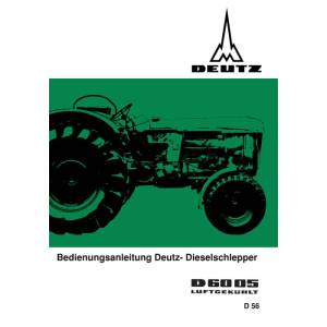 Deutz Betriebsanleitung-Bedienungsanleitung D6005