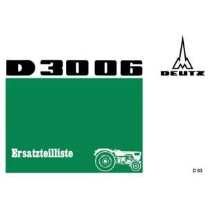 Deutz Ersatzteilliste D3006