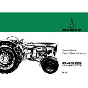 Ersatzteilliste Deutz D4505