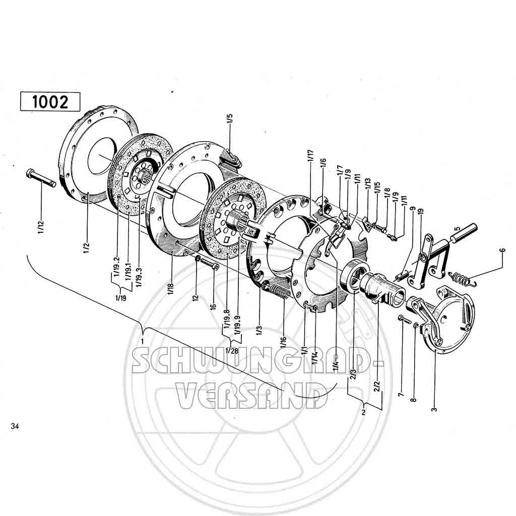 Deutz Traktor D 4006, F3L 912 Ersatzteilliste TW 25.2