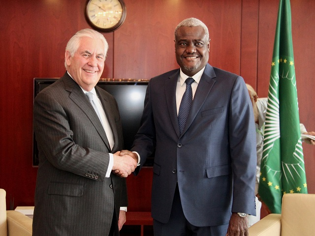 what is a chairperson in meeting hoveround mobility chair secretary tillerson s with african union commission moussa faki mahamat