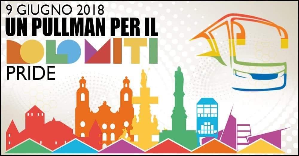 Un Pullman per il Dolomiti Pride