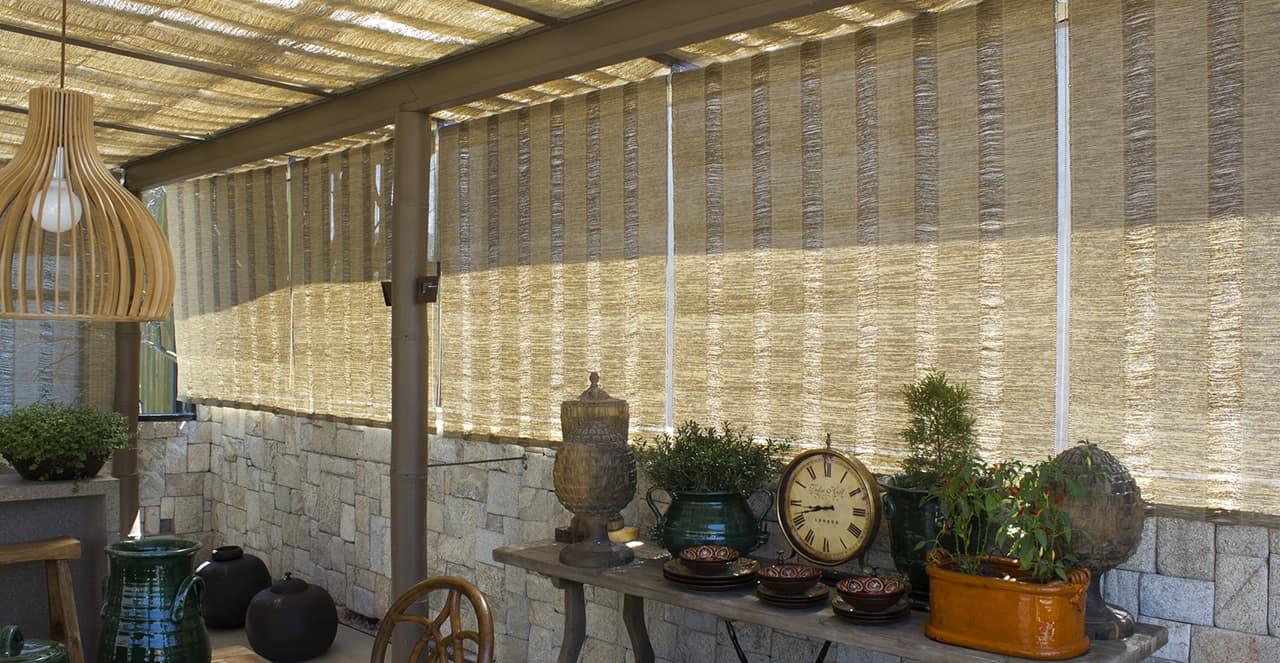 Revestimento teto e cortinas linha Acqua  Trama Casa