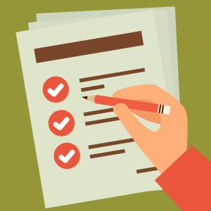 ilustração de um check-list