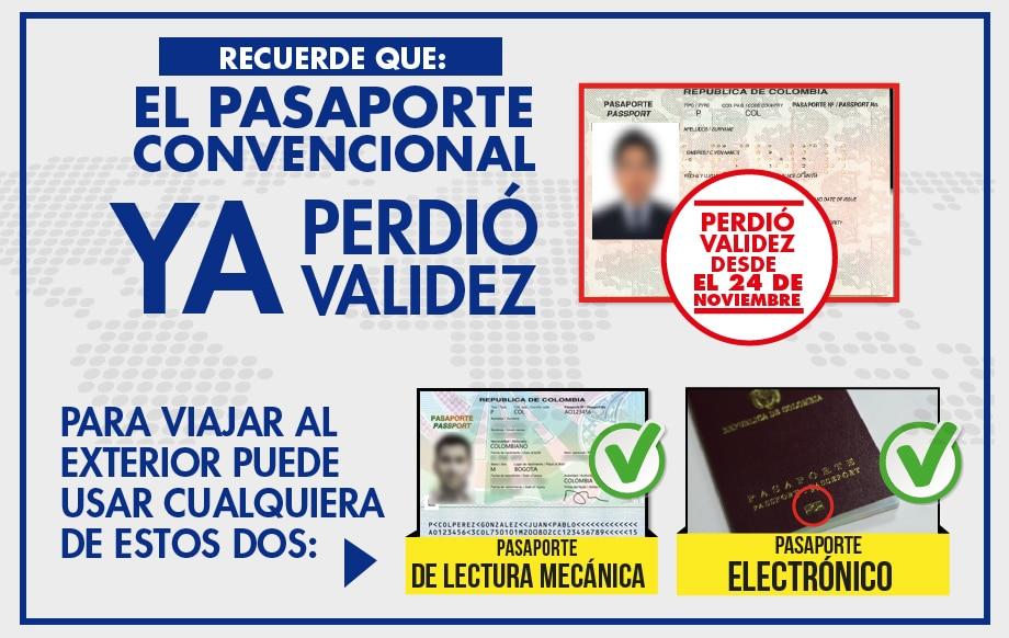 Sacar el pasaporte en Colombia - Tipos de pasaporte