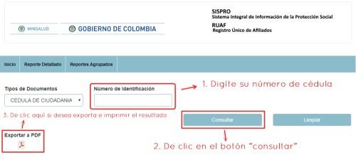 Consulta tu EPS, pensiones, cesantías por internet con el SISPRO RUAF