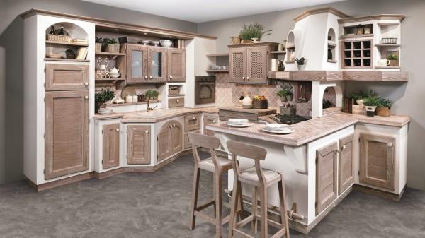 Le cucine in stile provenzale si esprimono con grande eleganza,. Una Cucina Country Per La Tua Casa In Montagna Tramontin Arredamenti