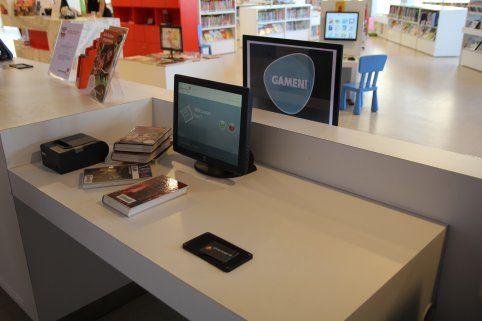 Stanowisko do wypożyczania książek