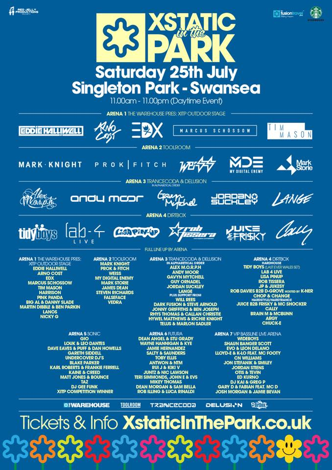 Xstatic In The Park 2015 Line-up