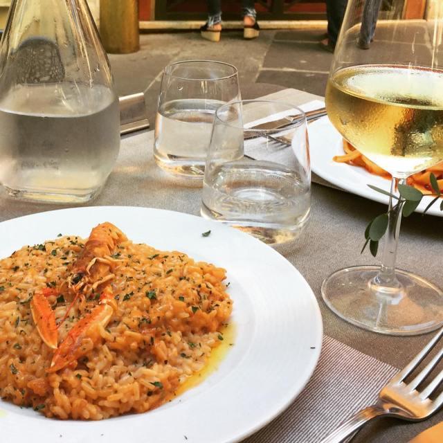 Risotto crema con scampi pizzapastaamore reseblogg resa italien