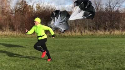 Löpning med skärm i motvind