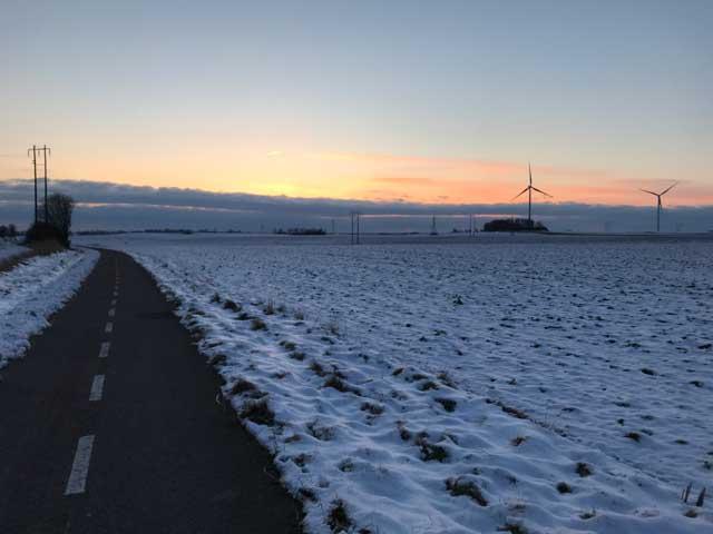 Löpning i snö och kyla.