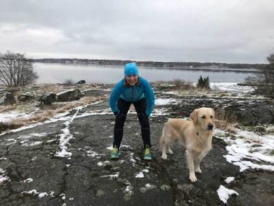 Vinterlöpning i Karlskrona skärgård.