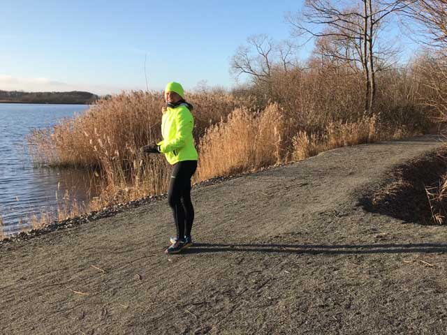Löpning längs Hammarsjön