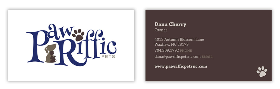 Paw-Riffic Pets Business Card