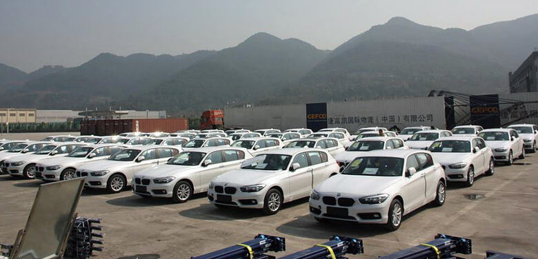BMW Unloading in China