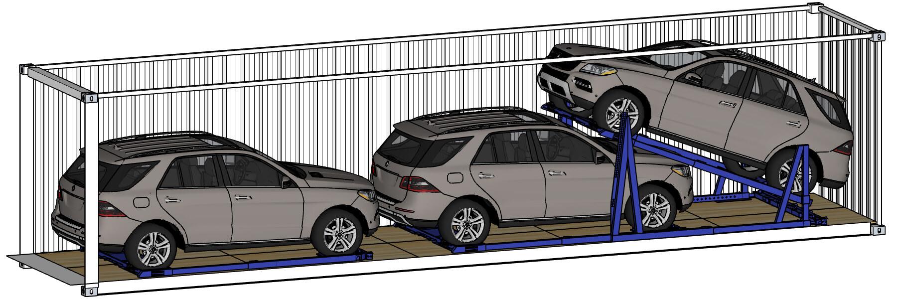 Exterior Loading Car Racking System