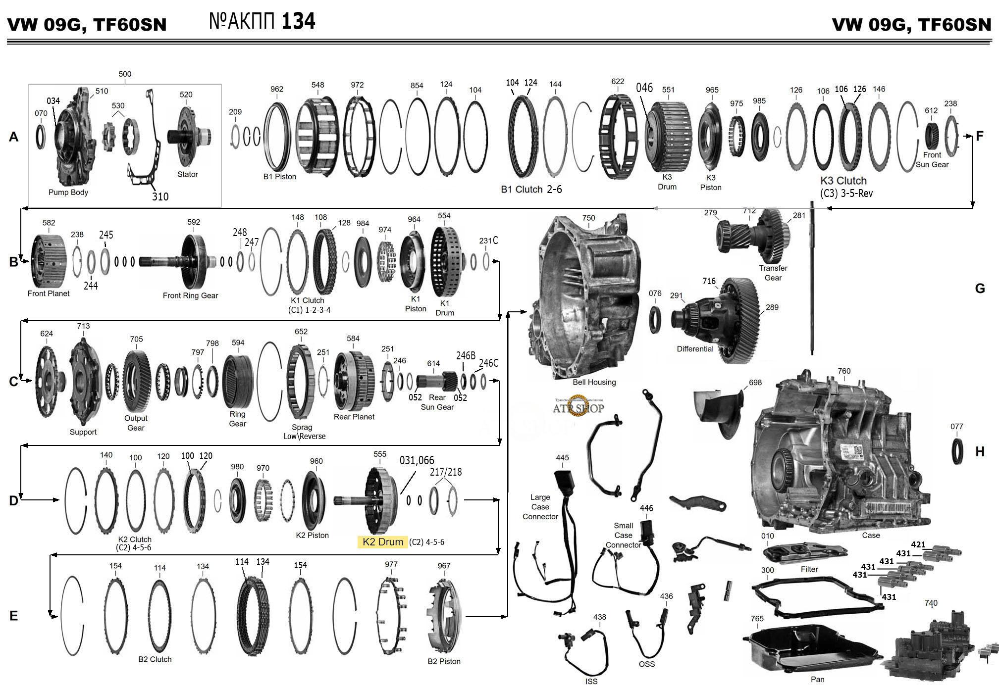 09G, TF60SN-61SN Описание, Запчасти , Цены Типичные