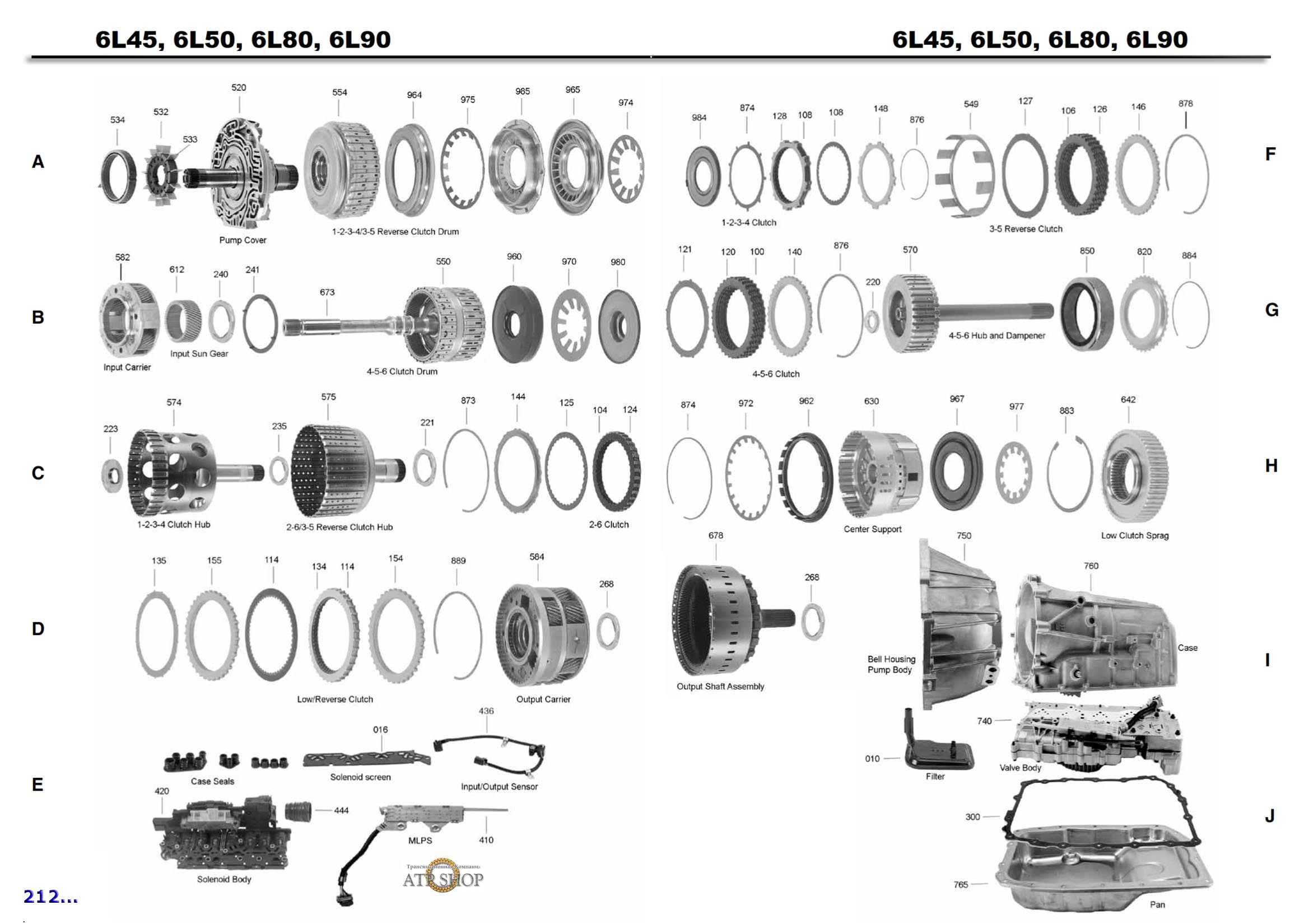 6L45E, 6L50, Описание, Цены, Каталог деталей.