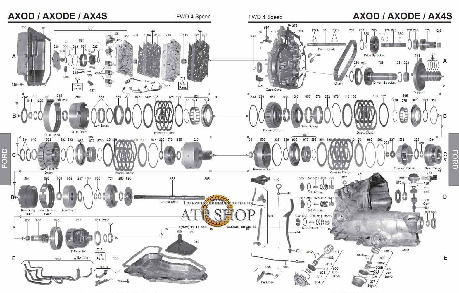 Ford ax4s transmission rebuild kit