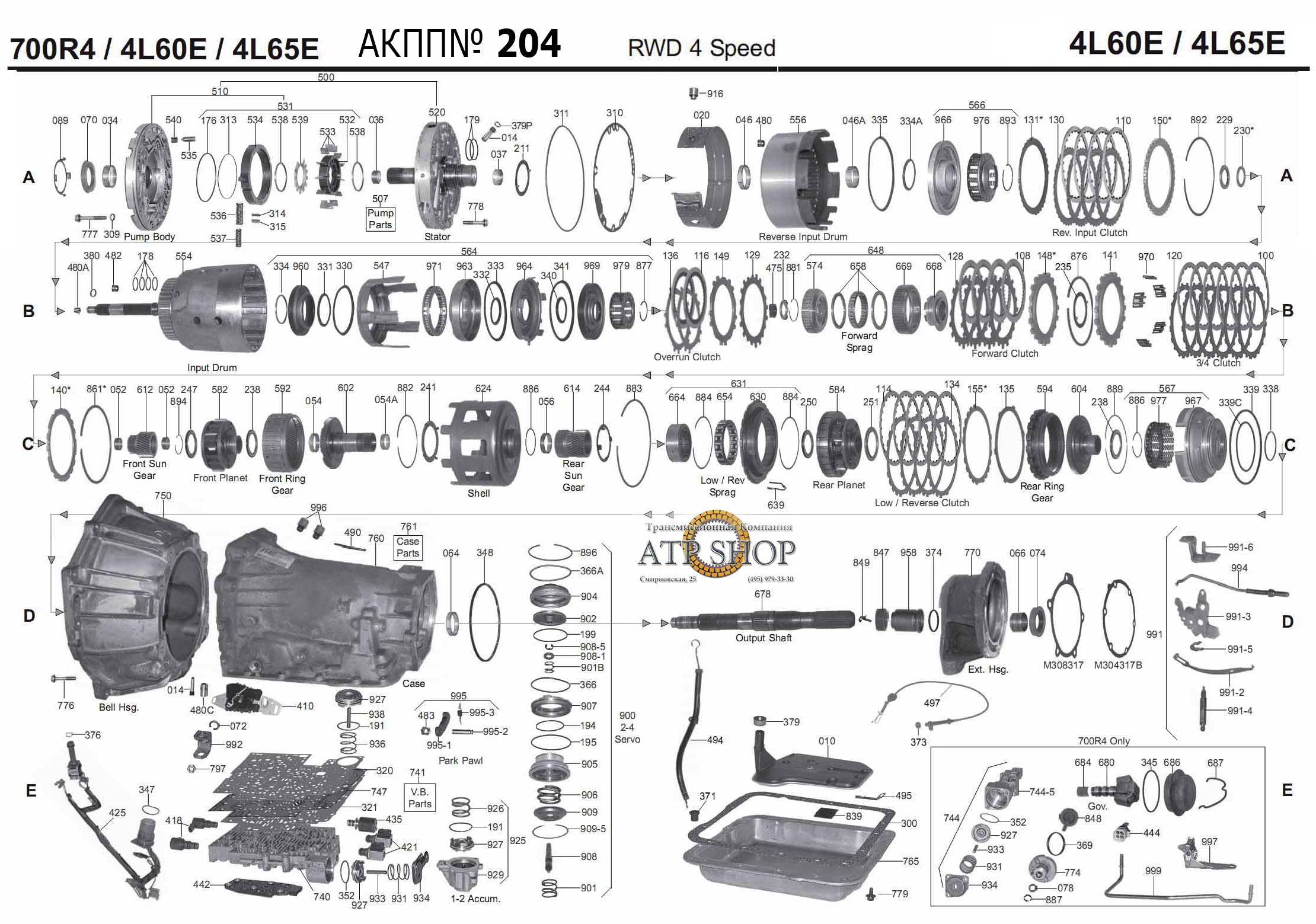 4L60E /4L65E /4L70E (700R4) Описание, Болезни, справочная