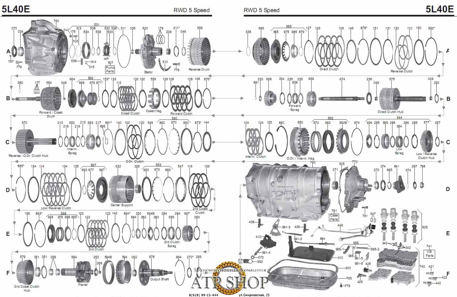 GM 4L40E справочные данные, Описание, Болезни, Запчасти, Цены.