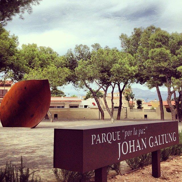 Johan Galtung Park 'por la Paz' in Alfaz del Pi, Benidorm, Spain