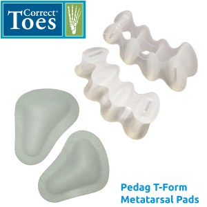 Foot Health Accessories - Correct Toes and Metatarsal Pads