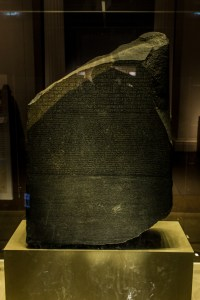Professional Photography Rosetta Stone Sculpture From Kemet Egypt In British Museum London