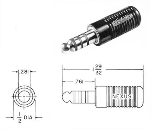 Nexus TP-120 Male Plug