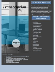 Transcription City Financial Services 1