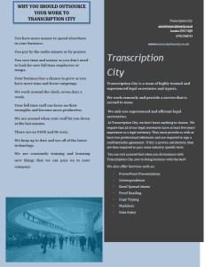 Transcription City Legal Services 2