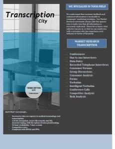 Transcription City Market Research Transcription
