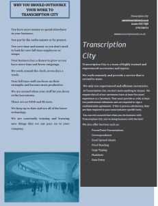 Transcription City transcription services for universities