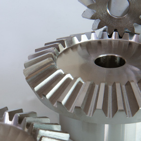 Metric Spiral Bevel Gear in Steel 2:1 Ratio, 1.5 – 5.0 MOD
