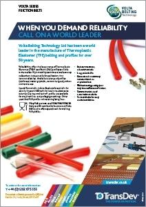 Volta Belts Leaflet