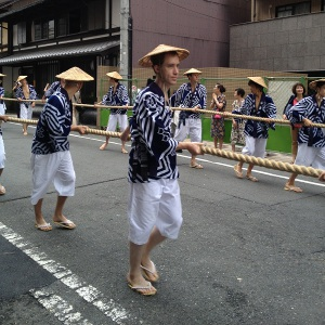Dressed in the Iwato-yama regalia