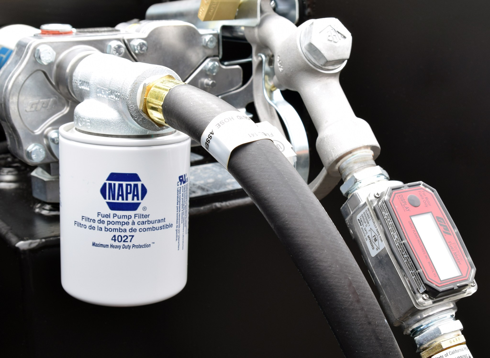 hight resolution of napa in line fuel filter kit for refueling tank transfer flow inc aftermarket fuel tank systems