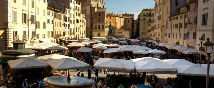 Rome: The Market of Campo de Fiori