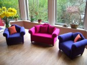 miniature upholstered silk furniture