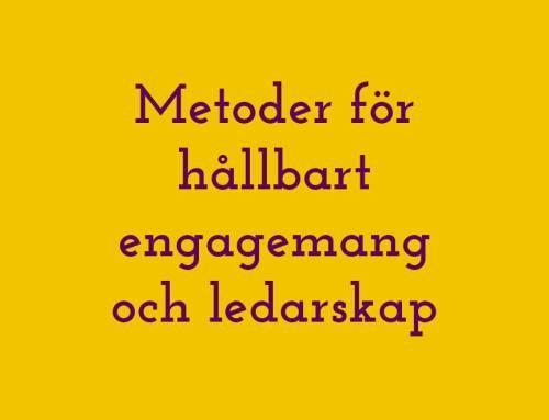 Våra metoder för hållbart engagemang och ledarskap