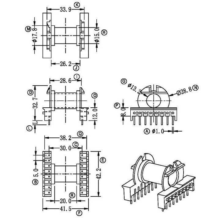 China Customized Dry Type Transformer Bobbin Manufacturers